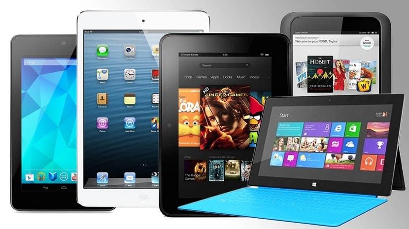 Tablets con distintos sistemas operativos