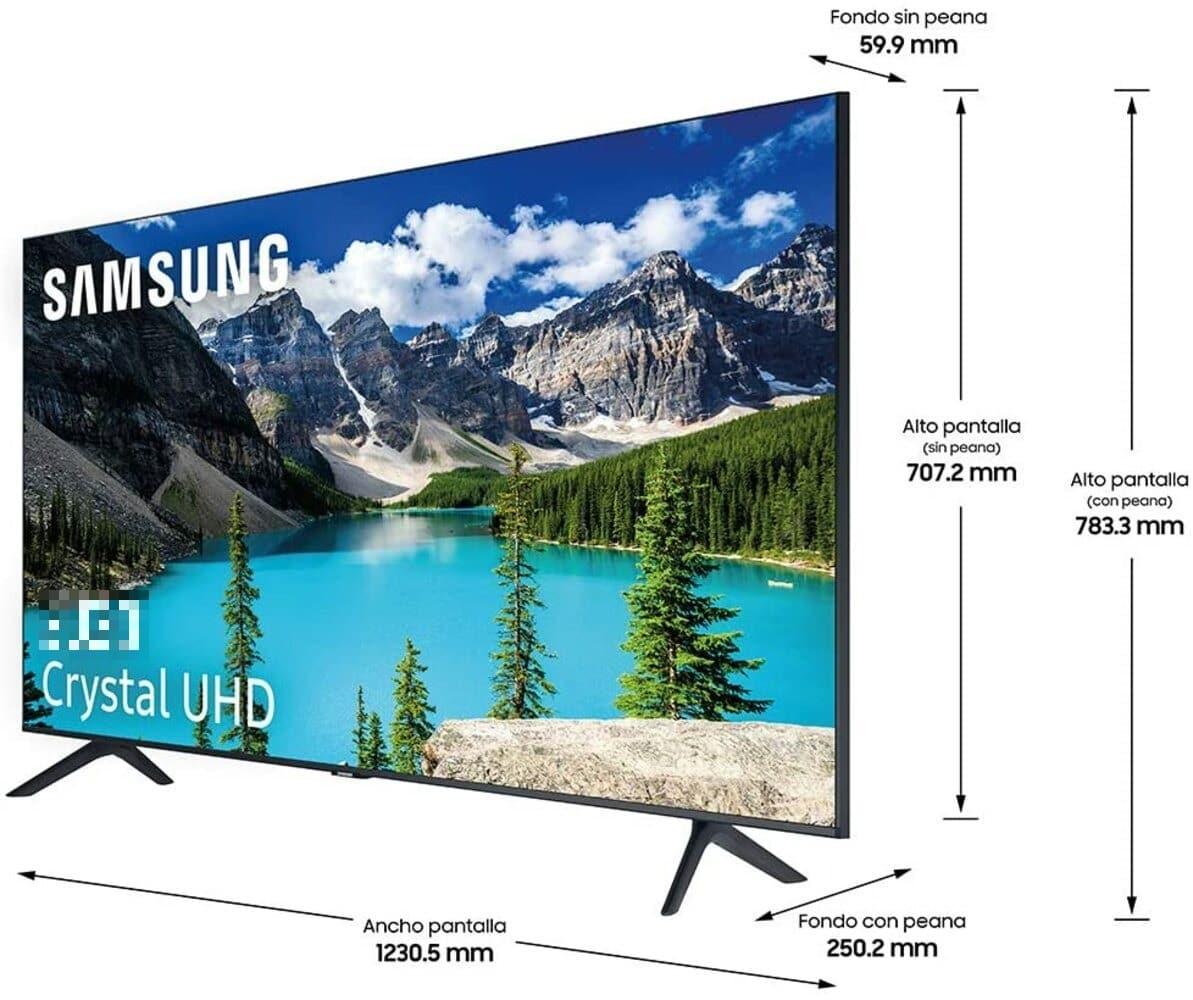 Cuánto mide una TV de 55 pulgadas
